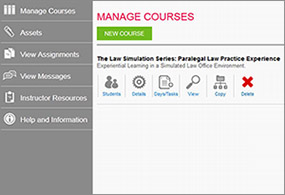 A professor dashboard for customizing the course, managing your students, and more